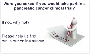 We want your thoughts on clinical trials for pancreatic cancer
