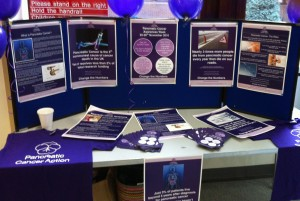 Cancer information display stand