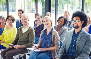 people laughing, seminar, talk, workplace