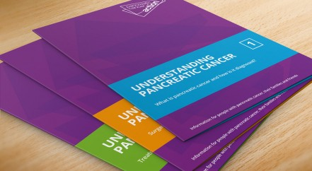 A photo of the Patient Information Booklets from Pancreatic Cancer Action