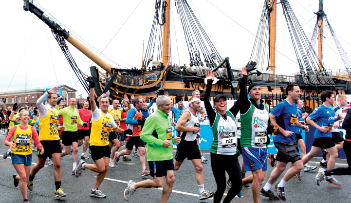 photo of great south run runners