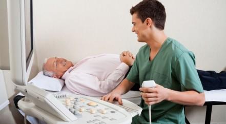 patient having an ultrasound scan