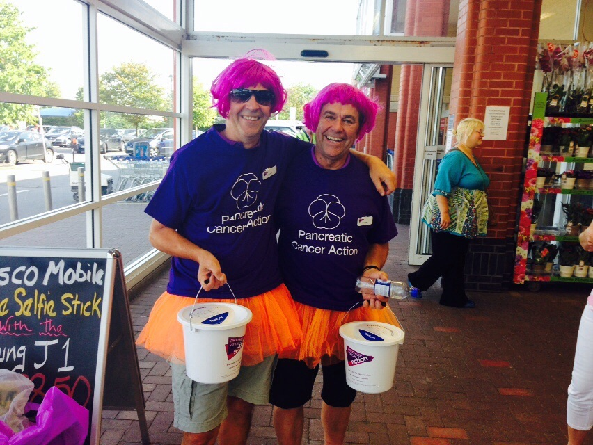 Raising money for Pancreatic Cancer charity.