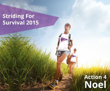 Striding for Survival 2015 Action for Noel