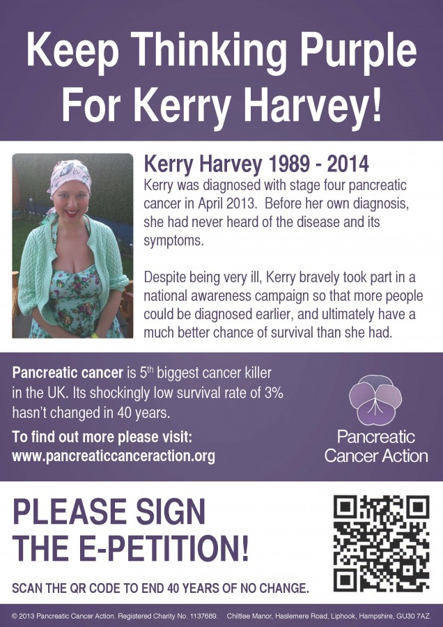 Keep thinking purple for kerry harvey without bleed