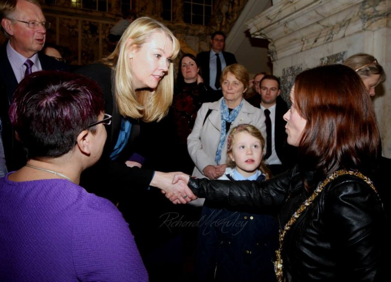 Ali Stunt CEO Pancreatic Cancer Action greets Lady Mayor