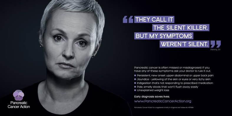 Penny Pancreatic Cancer Action Symptoms Advertising Campaign