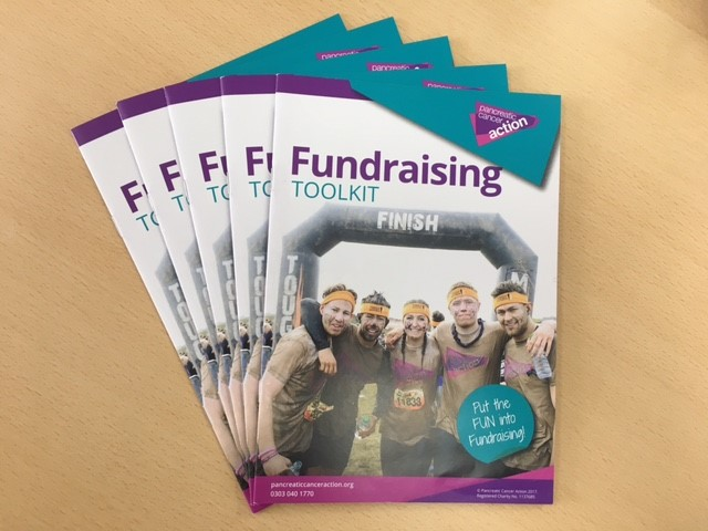 Fundraising toolkit booklet for Pancreatic Cancer Action