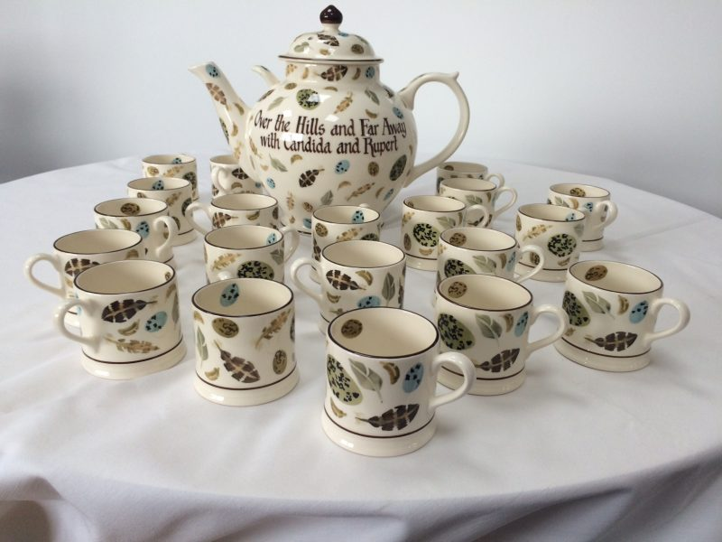 Emma Bridgewater bespoke mugs and gallon teapot
