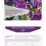 Pancreatic Cancer Action donation envelopes