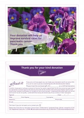 Pancreatic Cancer Action donation envelopes