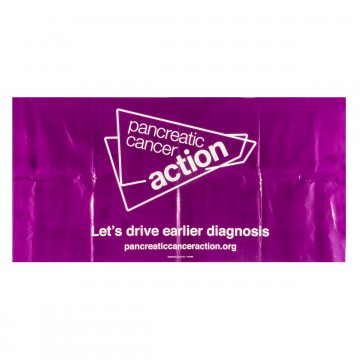 Pancreatic Cancer Action PVC banner