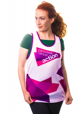 Pancreatic Cancer Action running vest