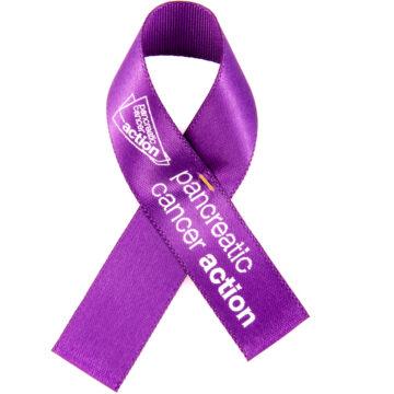 Pancreatic Cancer Acton ribbon pin