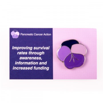 Pancreatic Cancer Action pansy pin