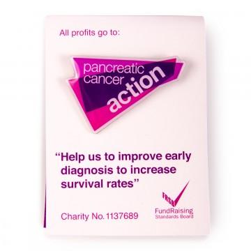 Pancreatic Cancer Action enamel pin