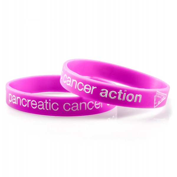 Pancreatic Cancer Action pink wristbands