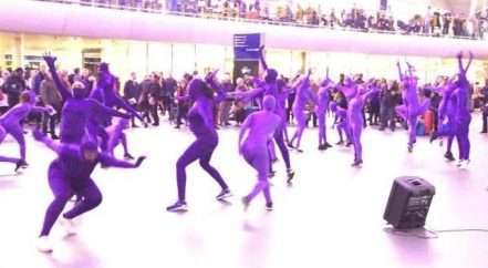 St Pancras flash mob