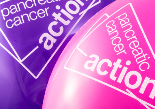 Pancreatic Cancer Action Purple and pink Balloons