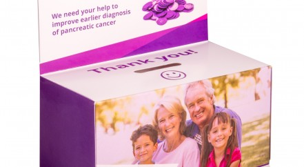 Pancreatic Cancer Action Purple Pennies Box