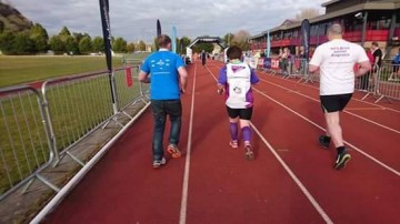 The end , rosies sons saw me over the finish line , a proud moment