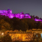 Edinburgh Castle for Turn it Purple Pancreatic Cancer Action Awareness Month