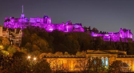 Edinburgh Castle for Turn it Purple Pancreatic Cancer Action Awareness Month