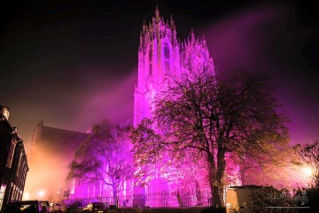 Beverley Minster Turn it Purple for Pancreatic Cancer Action Awareness Month