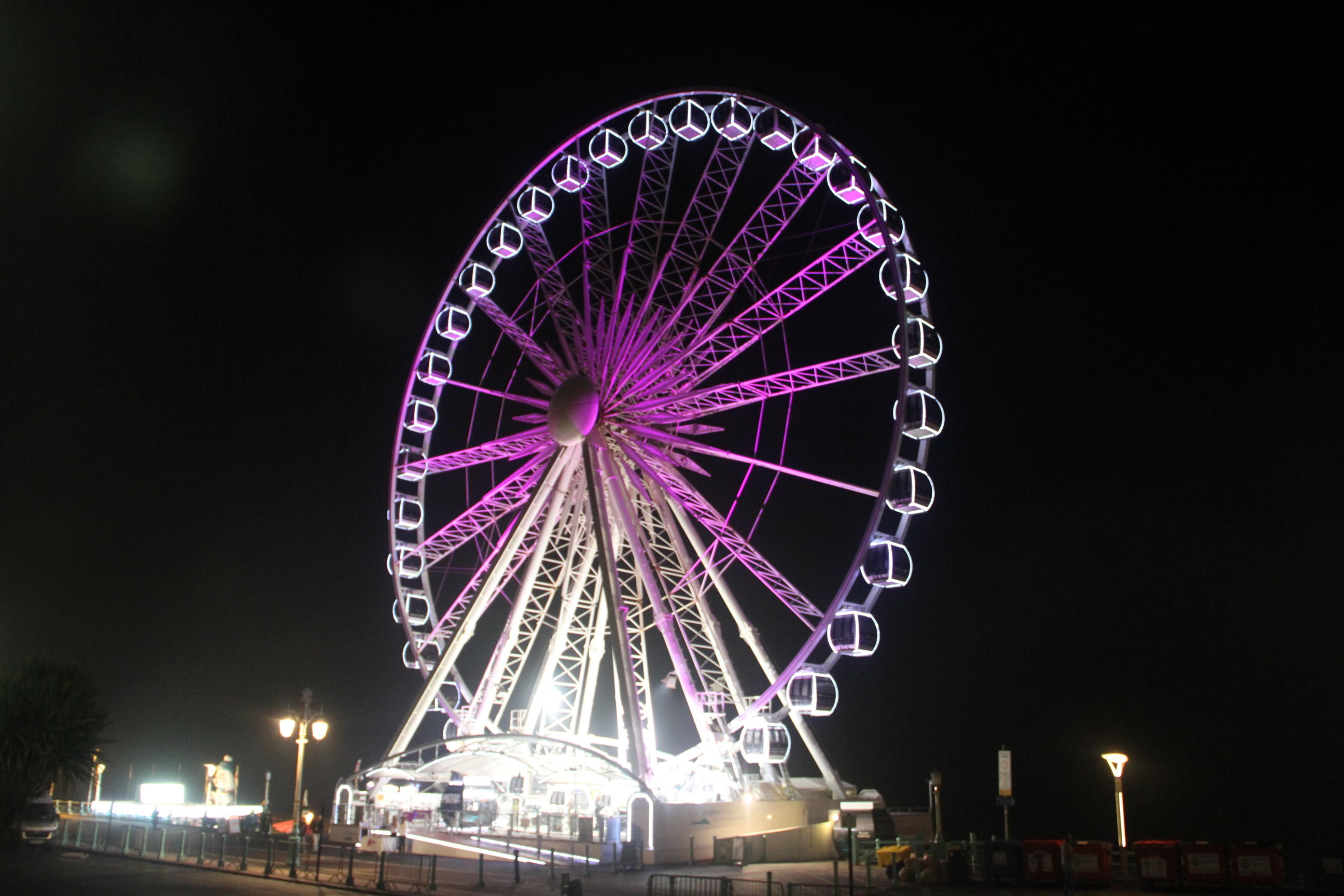 Brighton Wheel turn it purple for Pancreatic Cancer Action Awareness Month