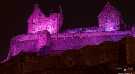 Edinburgh Castle turn it purple for Pancreatic Cancer Action Awareness Month