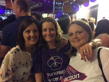 Kelly Ann Booth fundraising night in Wales for pancreatic cancer action