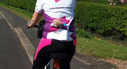 A charity bike ride to fundraise for a pancreatic cancer charity.