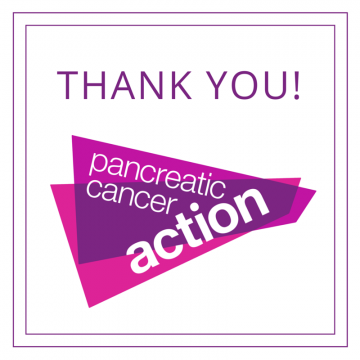 Pancreatic Cancer Action says thank you!