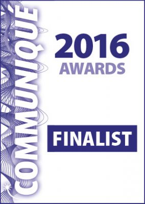 Pancreatic Cancer charity in the Communique 2016 Awards.
