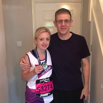 Caroline with her dad who is currently battling pancreatic cancer.