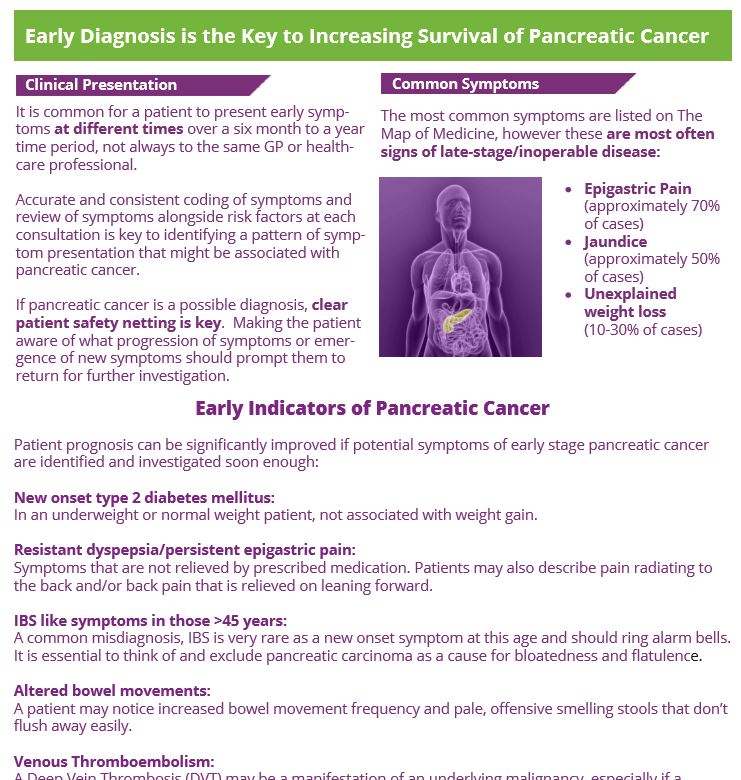 Pancreatic Cancer Action GP factsheet example · Pancreatic Cancer Action