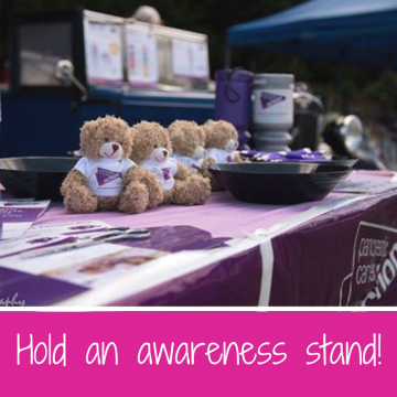 Hold an awareness stand pancreatic cancer