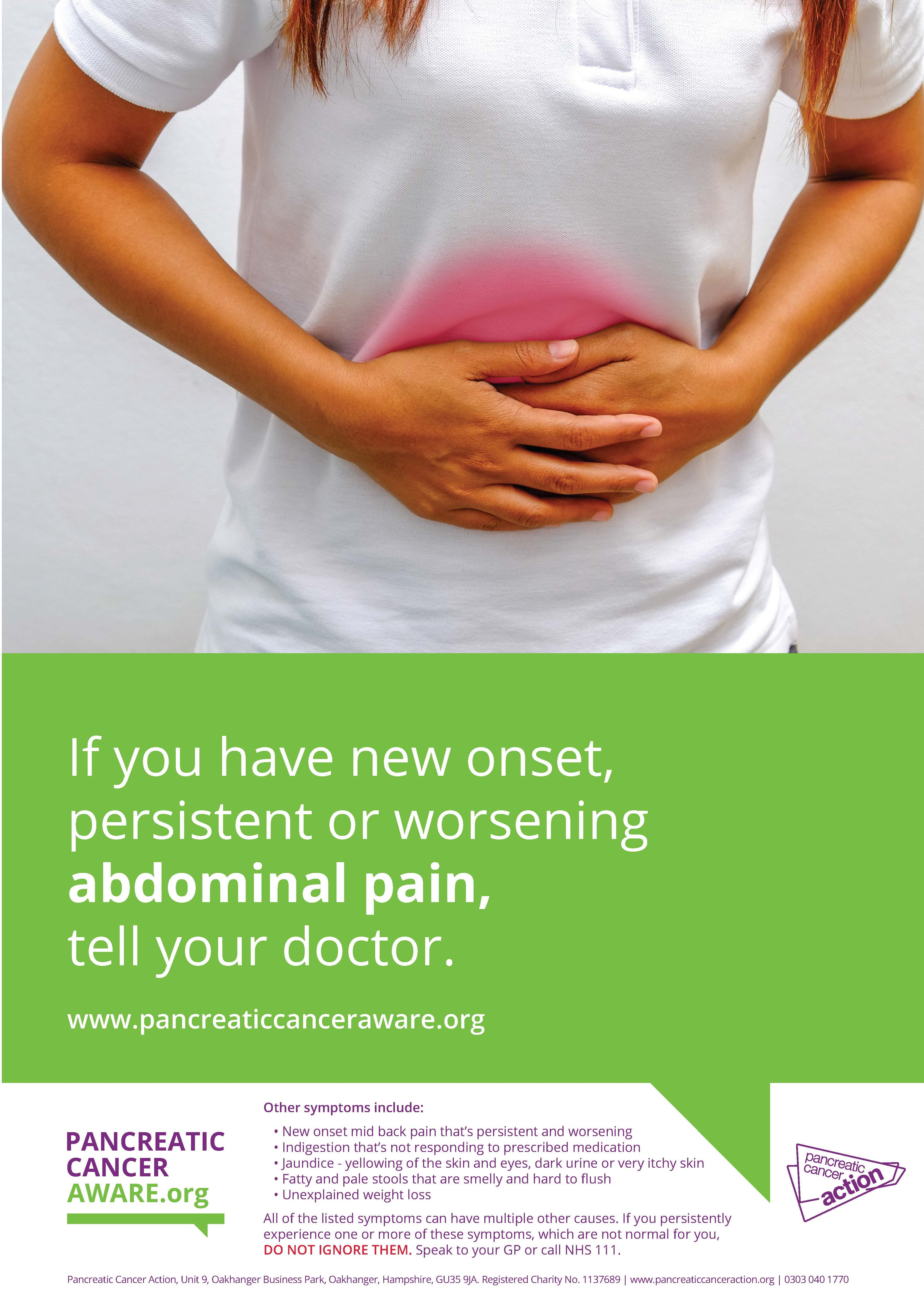 aware-abdominal-pain-female · Pancreatic Cancer Action