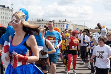 a photo of the Milton keyenes super hero run