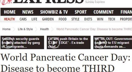 Daily Express World Pancreatic Cancer Day