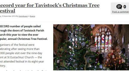 Tavistock's Christmas Tree Festival