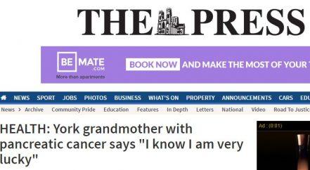 The Press pancreatic cancer survivor