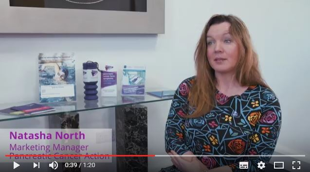 screenshot natasha north marketing manager pancreatic cancer action