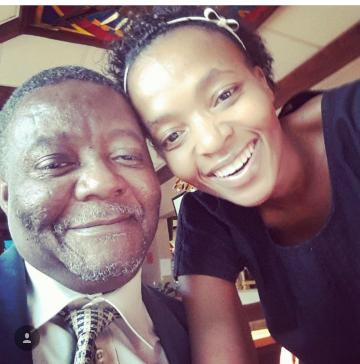 Mr Seretse Thwala and Busi