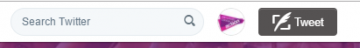 Twitter search bar