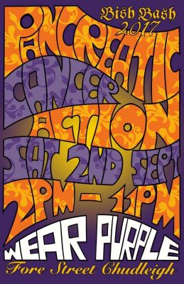 A street party poster for Pancreatic Cancer Action