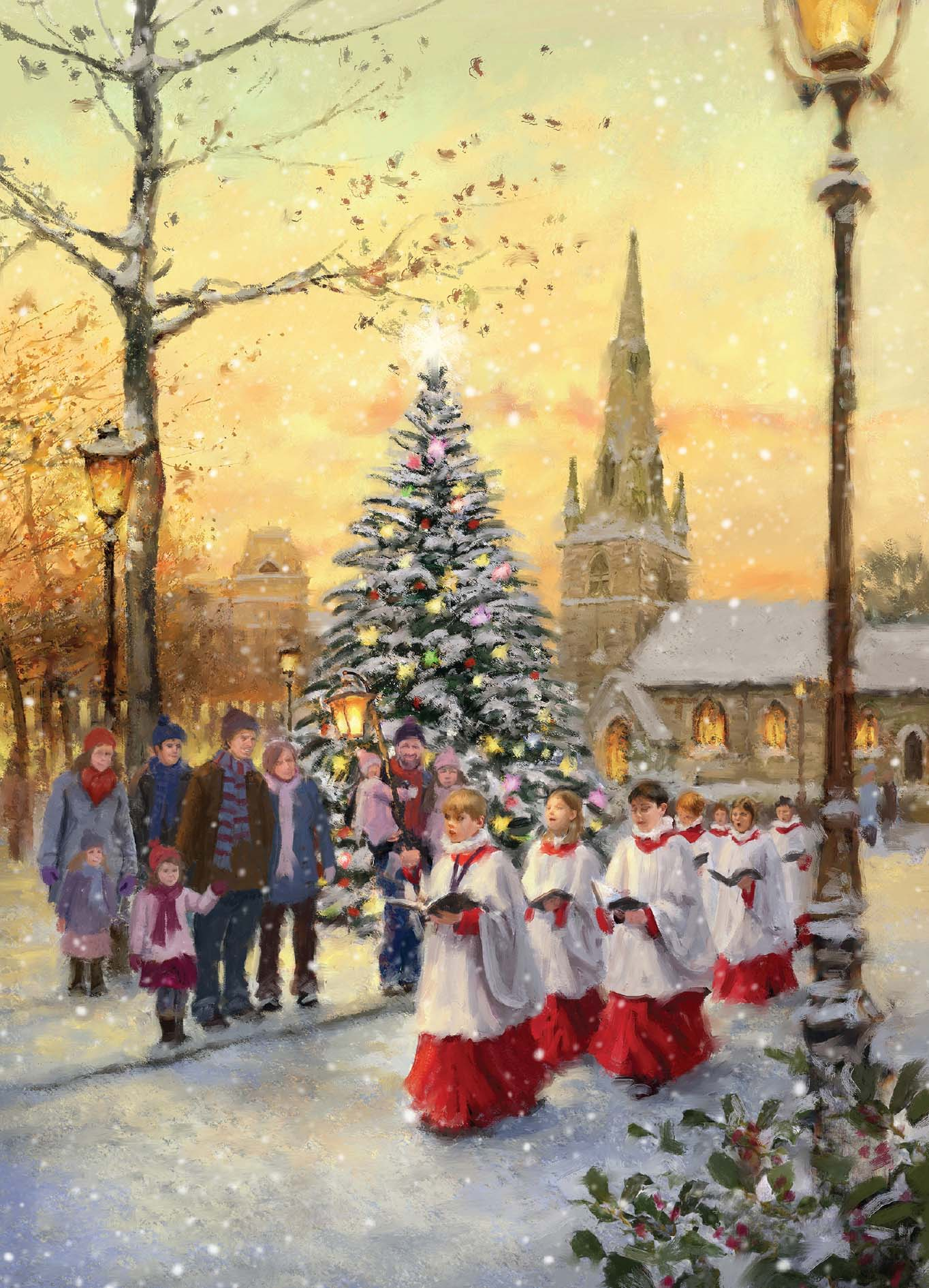 christmas choir - Christmas Photo Cards 2017