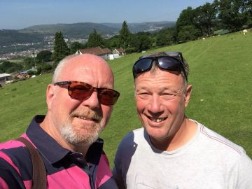 A photo of Anthony (left) and Phil Smith (right) who is organising a Music and Beer Festival to raise funds and awareness for Pancreatic Cancer Action