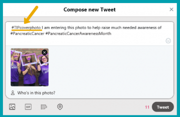 How to enter the Turn it Purple competition using #TIPcoverphoto