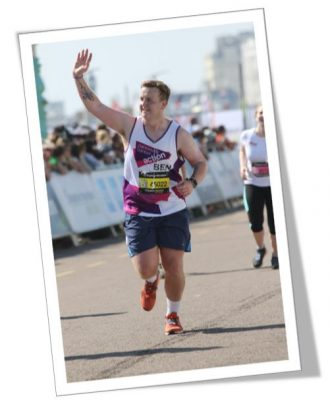 A supporter running for Pancreatic Cancer Action